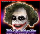 FANCY DRESS ~ DELUXE LATEX DARK KNIGHT JOKER MASK/WIG